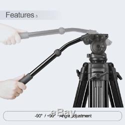 1.8M Professional Heavy Duty Video Camcorder Tripod Weifeng718 DSLR Cam Studio