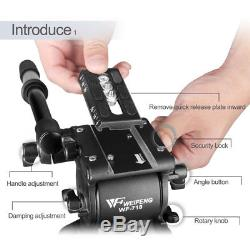 1.8M Professional Heavy Duty Video Camcorder Tripod Weifeng718 DSLR Cam Studio