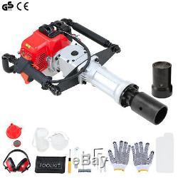 2 Stroke 33cc Gas Powered Heavy Duty T-Post Driver Gasoline Push Pile Pro Kit