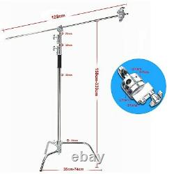 2x Professional Heavy Duty Studio C Stand with Gobo Arm Grip Heads Century Stand