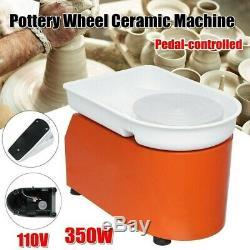 350W 110V Potters Wheel For Professional Ceramic Work Heavy Duty Machine Wheel
