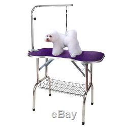38 Heavy Duty Pet Professional Dog Bone Pattern Foldable Grooming Table Purple