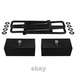 3 + 2 Lift Kit + Tie Rod Up + Shock Ext For 2011+ Silverado Sierra 2500 3500HD