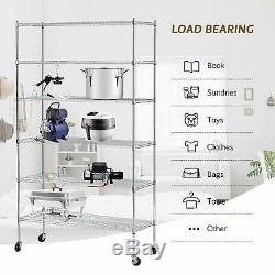 3/4/5/6 Tier Heavy Duty 82x48x18 Wire Shelving Rack Steel Shelf Adjustable