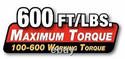 3/4 Drive SAE 100-600 ft-lb Professional Grade Adjustable Click Torque Wrench