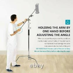 3x Professional Heavy Duty Studio C Stand with Gobo Arm Grip Heads Century Stand