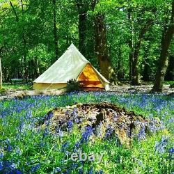 4m pro bell tent canvas bell tent with stove hole and extras. 320 gsm