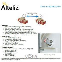 5 GHz (4.9 GHz to 6.5 GHz) 30dBi Heavy Duty MIMO 2x2 PtP Dish Antenna