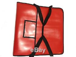 5 x 22 Professional Pizza Delivery Heavy duty Insulated extra Strong vinyl Bag