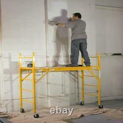 6' Adjustable Multi-Use Professional Heavy Duty Steel Scaffolding Indoor Outdoor