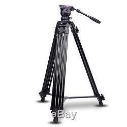 72''Professional Heavy Duty DV Video Camera Tripod withFluid Pan Head Kit For DSLR