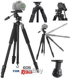 80 Professional Heavy Duty Tripod For Canon Eos Rebel 5d 6d 7d 60d 70d 80d T5