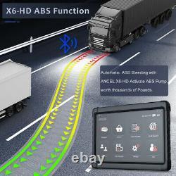 ANCEL X6 HD Heavy Duty Truck OBD2 Scanner Full System DPF ECU Reset Diagnostic