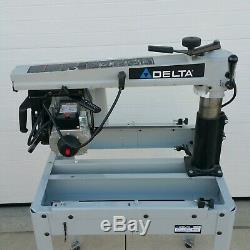 BARELY USED Delta 10 Professional Radial Arm Saw withStand DUAL VOLTAGE USA