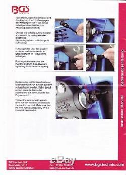 BGS Germany Professional Riveter Pop Rivet Gun Nutsert Blowmold Case Heavy Duty
