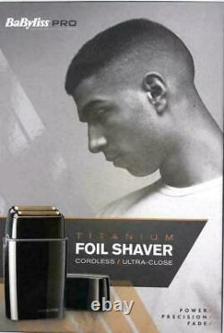 BaByliss Pro BABFS2U Barbers Cordless Titanium Dual Foil Shaver Heavy Duty