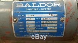 Baldor 7306d Heavy Duty 1/2 HP Professional Dual Grinder! F