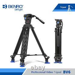 Benro BV6 Video Tripod Professional Auminium Camera Tripod Heavy Duty Video Head