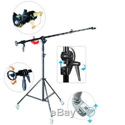 Boom Arm Stand Super Heavy Duty Pro Kit Rotatable Plus Wheels 6KG Counterweight