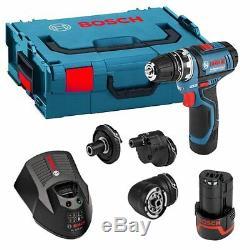 Bosch GSR 12 V-15 FC Professional Flexi-click Drill/Driver Set
