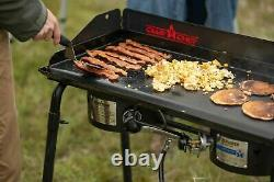 Camp Chef Professional Heavy Duty Steel Deluxe Griddle with Built In Grease Drai