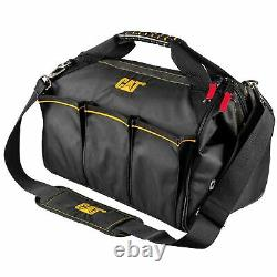 Cat 16 in. Pro Widemouth Tool Bag 18 Pocket Heavy Duty 1680D Polyester 240044