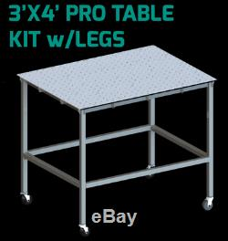 Certiflat 36x48 PRO Top Heavy Duty Welding Table WT3648 WITH LEGS AND CASTERS