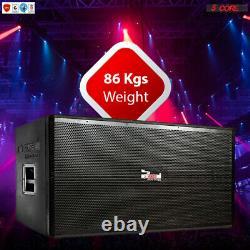 DUAL 2X 18 Inch PA DJ 1200W PRO Wooden SubWoofer BOX Passive COLUMN 8 OHMS