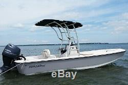 Dolphin Pro3 Center Console Boat Extreme Heavy Duty T Top anodized Black Canopy