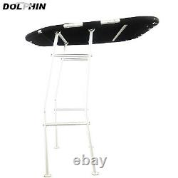 Dolphin Pro Fishing Boat T Top Heavy Duty T top White Frame / Black Canopy