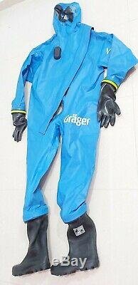 Drager WorkMaster Pro H Blue R29400 Heavy Duty GasTight Chemical Protective Suit