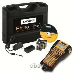 Dymo Rhino 5200 Professional / Industrial Label Printer Kit Hard Case S0841440