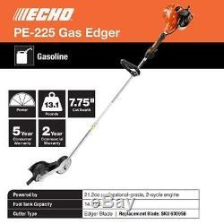 ECHO PE-225 Gas Edger Professional Grade Heavy Duty Guide Wheel Manicured Lawn