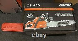 Echo CS-490 20 Bar 50.2cc Engine Professional Grade Gas Powered Chainsaw NEW