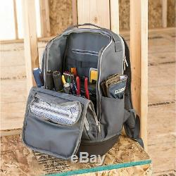 Estwing 20in Heavy Duty Hard Bottom Professional Storage Tool Bag Backpack 94759