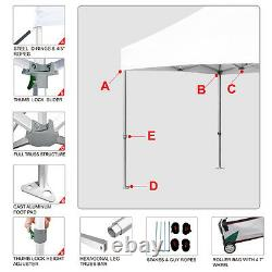 Eurmax Professional EZ Pop Up 10x20 Canopy Patio Party Shade Tent withRoller Bag