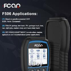 Fcar F506 Pro HD HOBD All System Diesel Truck Heavy Duty Diagnostic Scanner Tool