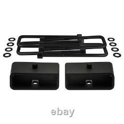 Fits 2007-2020 Silverado 1500 3.5 Front + 2 Rear Full Lift Kit + Block Shims
