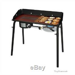 Flat Top Griddle 32'' Grill Stove Topper Professional Grade Steel Heavy Duty NEW