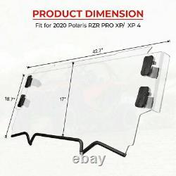 For Polaris RZR PRO XP /4 UTV Half Windshield Heavy Duty Polycarbonate 2020-2021
