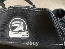 GATORBACK Contractor Pro Carpenter Tool Belt 3 Heavy Duty Pouches, Back support