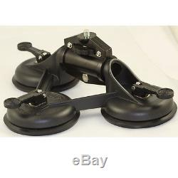 GSE GH1018 Professional Heavy Duty Car Camera Suction Cup Mount 3 Base Cup