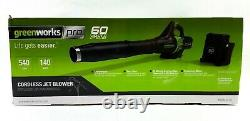 Greenworks Pro 60V Cordless Jet Leaf Blower Li-on with Battery & Charger BRAND NEW