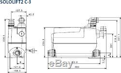 Grundfos Sololift2 C-3 Macerator Waste Pump Professional Heavy Duty 97775332