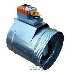 HVAC Zone Damper (Round 8) Professional Grade/ Heavy Duty USA Made, 24VAC
