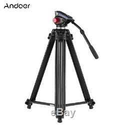 Heavy Duty 71 Pro Camera Tripod for DV DSLR Video Stand Fluid Pan Head with Bag