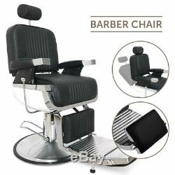 Heavy Duty All Purpose Recline Hydraulic Pro Barber Chair Hair Salon Spa Beauty