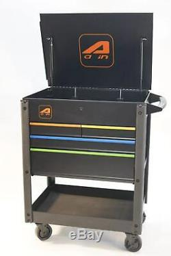 Heavy Duty Tool Box Cart, Professional Work Bench with Four Drawers Screwdrives