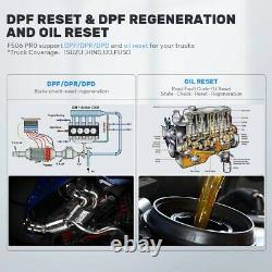 Heavy Duty Truck OBD2 Scanner DPF Oil Reset Diesel HD Code Reader Diagnostic Too