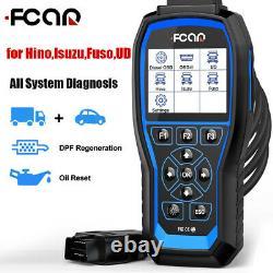 Heavy Duty Truck Scanner DPF Regen HD OBD Diesel Code Reader Diagnostic Tool US